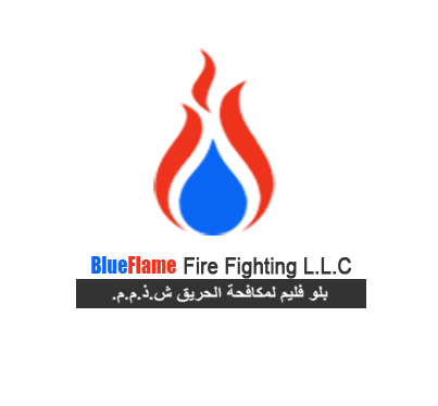 BLUE FLAME FIRE FIGHTING LOGO